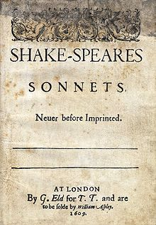 Shakespeare sonnets from https://en.wikipedia.org/wiki/Shakespeare%27s_sonnets